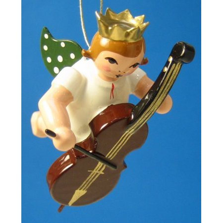 Bass Angel Christmas Ornament  - Made in - Christmas Angel Ornaments