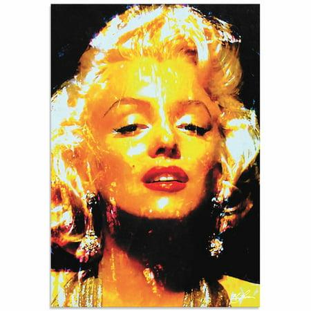 Metal Art Studio Marilyn Monroe Restoration By Mark Lewis Painting Print