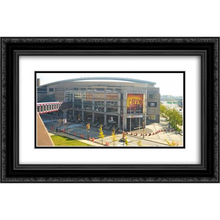 Quicken Loans Arena 2X Matted 24X16 Black Ornate Framed Art Print From The Stadium Series