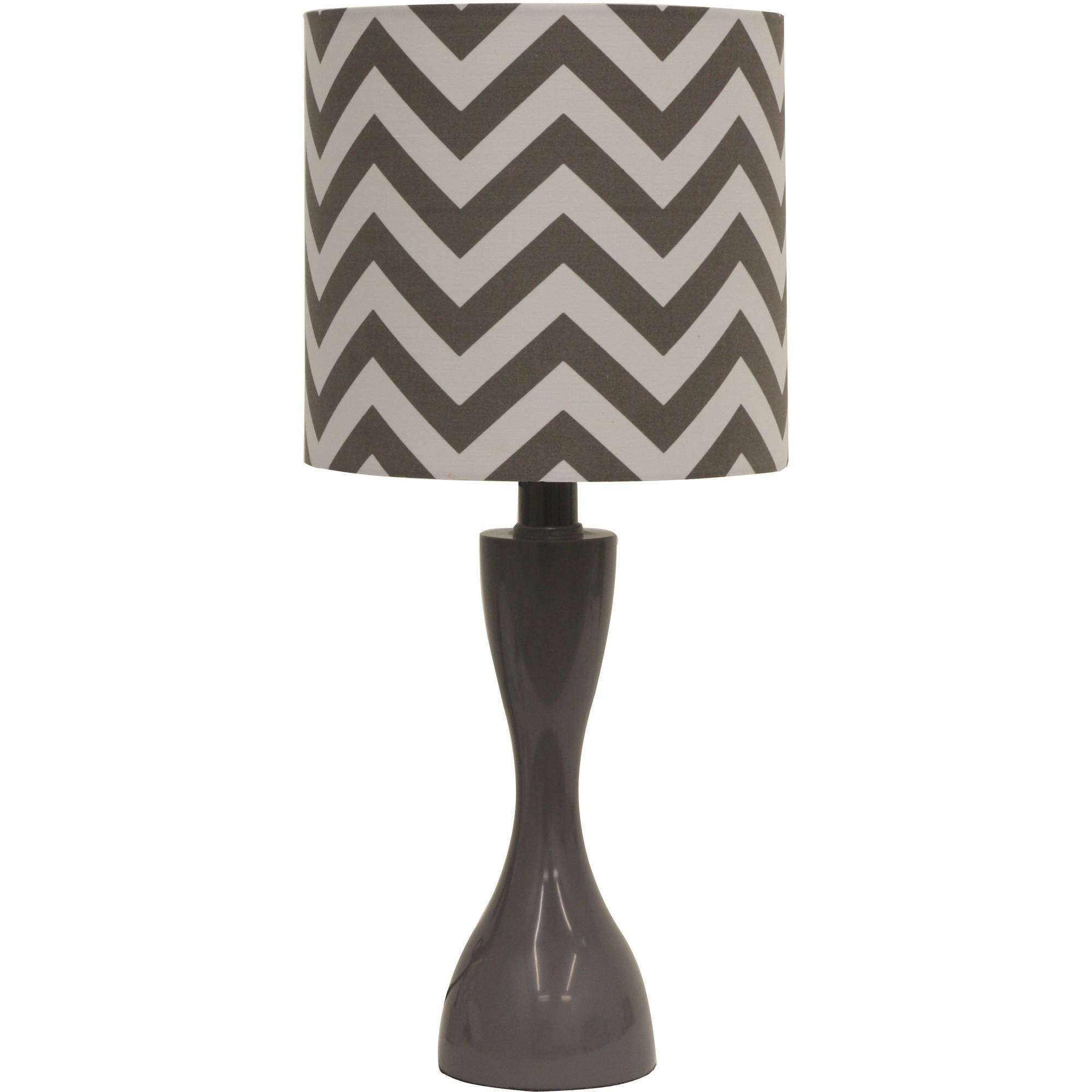 Mainstays Gray Chevron Table Lamp with CFL Bulb by JIMCO LAMP CO.