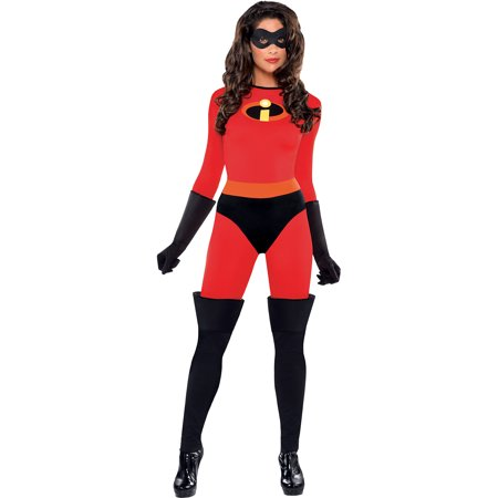 Mrs Incredible Costume Small (The Incredibles Mrs. Incredible Costume for Women, Large, with)