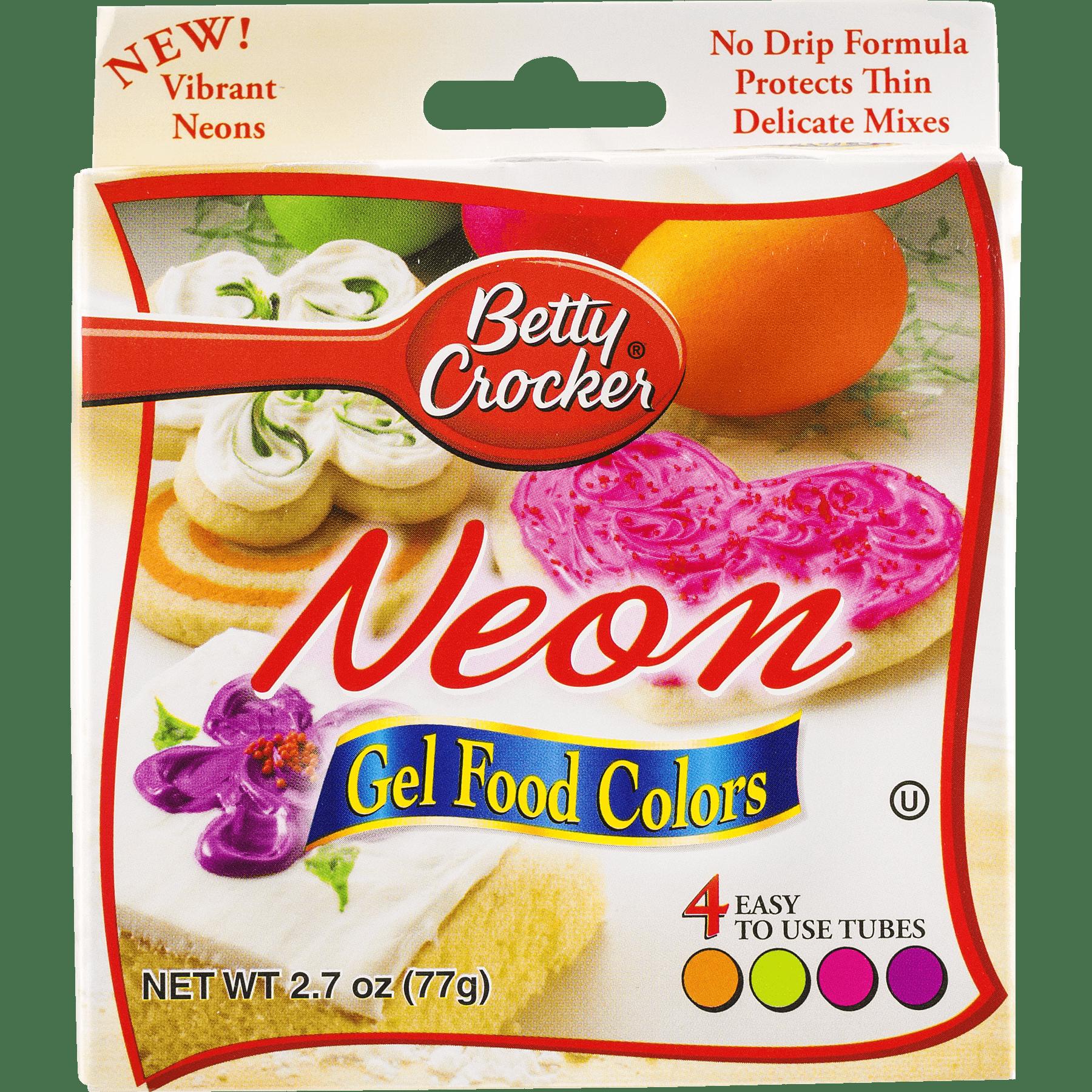 Betty Crocker Neon Gel Food Colors, 2.7 oz - Walmart.com
