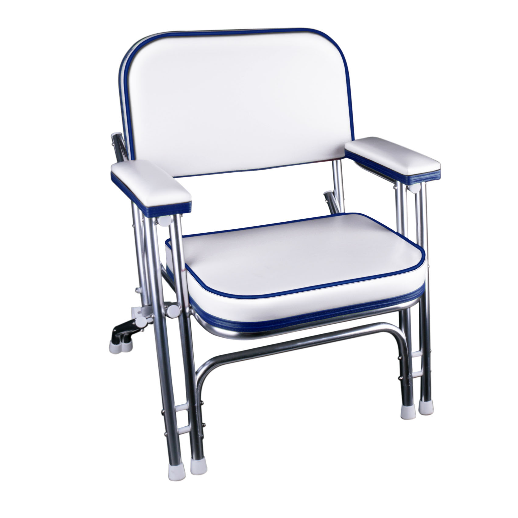 Leader Accessories Folding Deck Chair with Aluminum frame, armrests,Portable