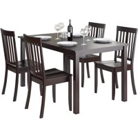 CorLiving Atwood 5pc Dining Set, with Cappuccino Stained Chairs