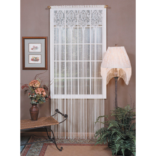 Heritage Lace Gala Nature/Floral Semi-Sheer Rod Pocket Single Curtain Panel