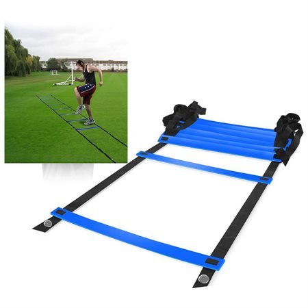 Plyometric Soccer Training (Durable 8-rung Agility Ladder for Soccer Speed Football Fitness Feet Training )