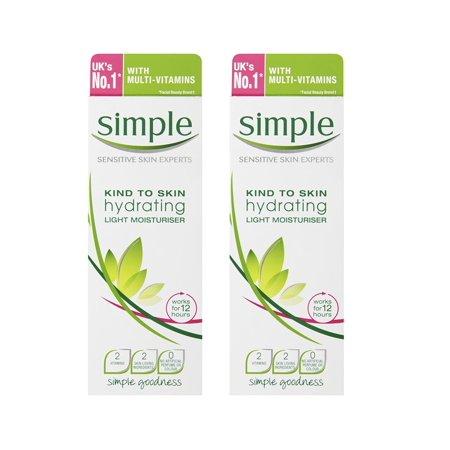 Quick And Simple Halloween Makeup (Simple Sensitive Skin Experts Kind To Skin Hydrating Light Moisturizer, 125 ml (4.2 Oz) (Pack of 2) + Makeup Blender Stick, 12)