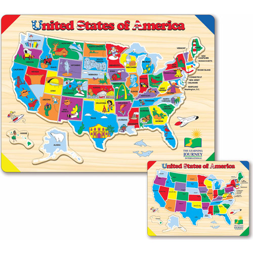 The Learning Journey Lift and Learn USA Map Puzzle by The Learning Journey