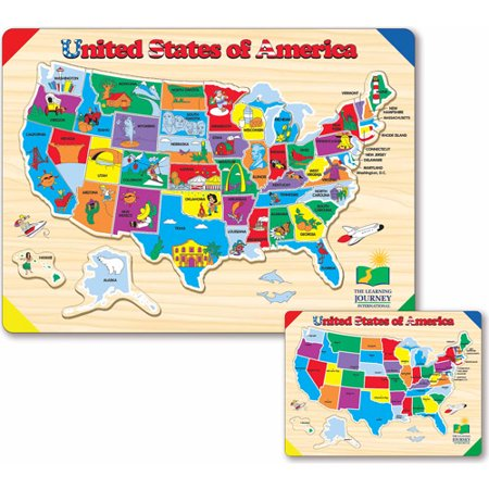 The Learning Journey Lift And Learn USA Map Puzzle Walmartcom - Us map walmart