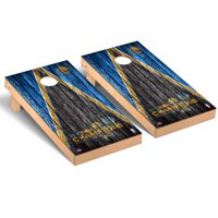Golden State Warriors 2017 NBA Finals Champions Weathered Triangle Cornhole Game Set - No Size