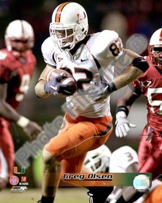 Greg Olsen University of Miami 2004 Action Sports Photo by Photofile