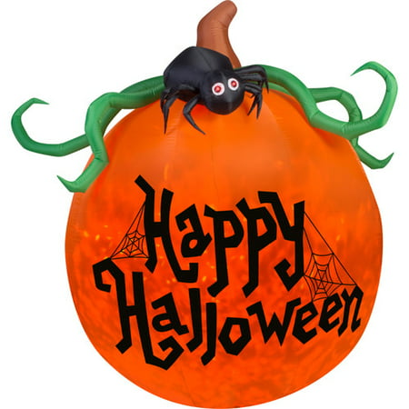 Gemmy Industries Airblown Inflatables Projection Kaleidoscope Happy Halloween Pumpkin (Miley Halloween Pumpkins)