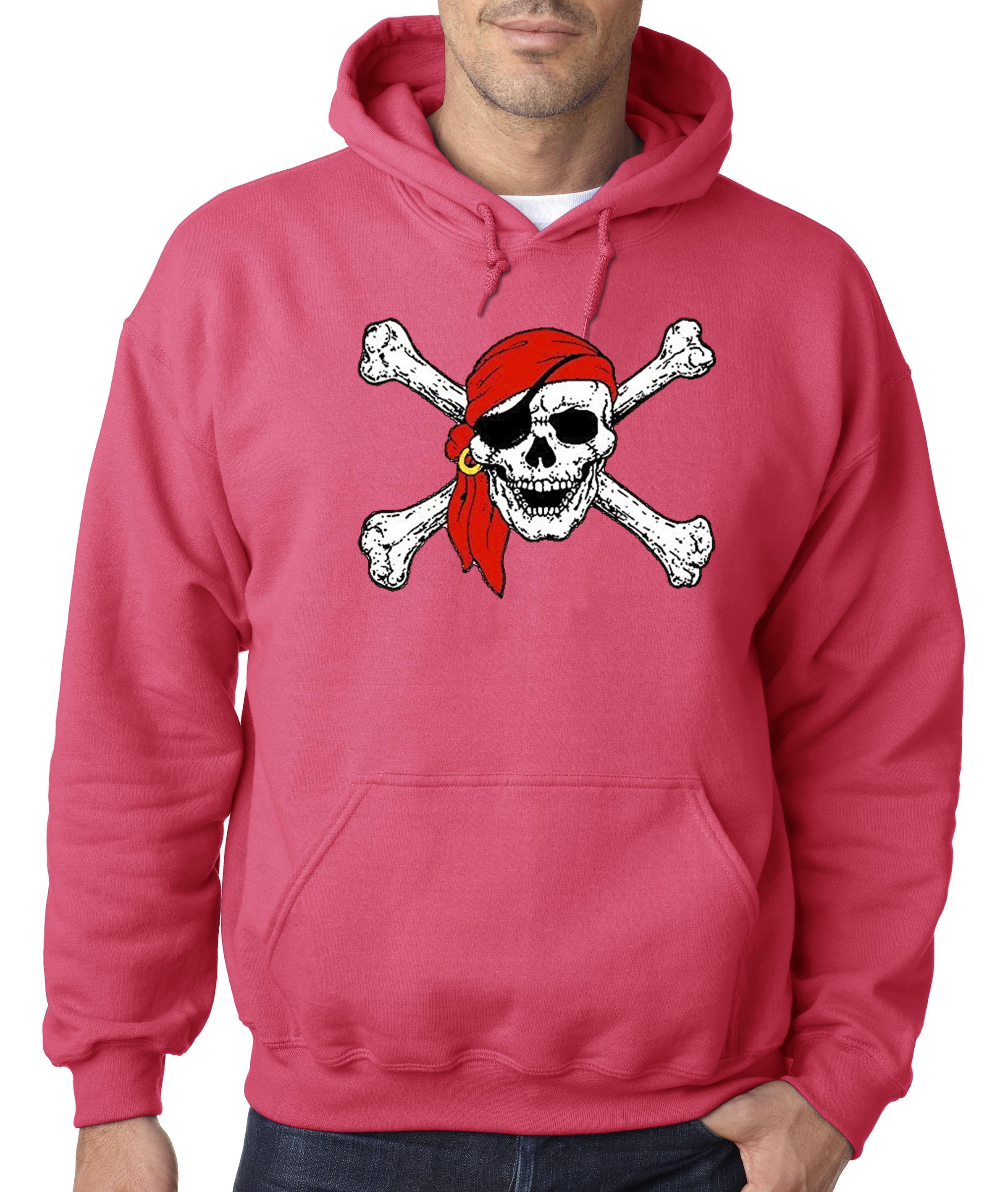 Jolly Roger Pirate Costume Black Adult Sweatshirt