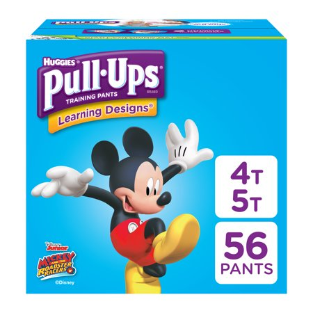 Pull-Ups Boys' Learning Designs Training Pants, Size 4T-5T, 56 - Huggies Pull Ups