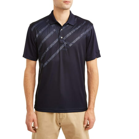 - Men's Performance Short Sleeve Printed Golf Polo Shirt