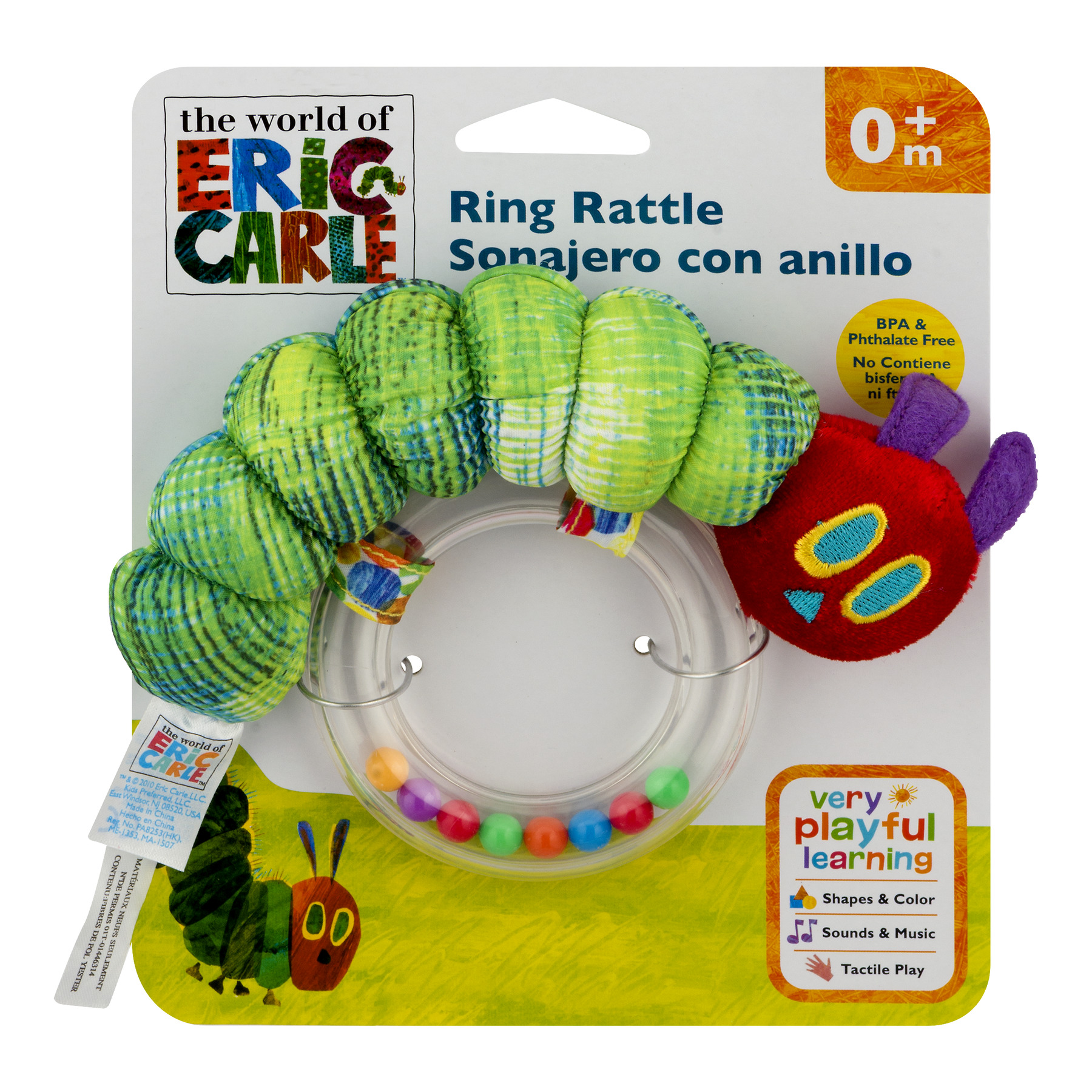 World of Eric Carle, The Very Hungry Caterpillar Ring Rattle