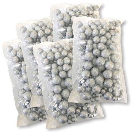 Silver Iridescent Foam Balls Large Set Of Glittered Vase Filler