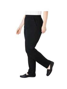e57ded18e8 Product Image Woman Within Plus Size Tall Straight Leg Ponte Knit Pant