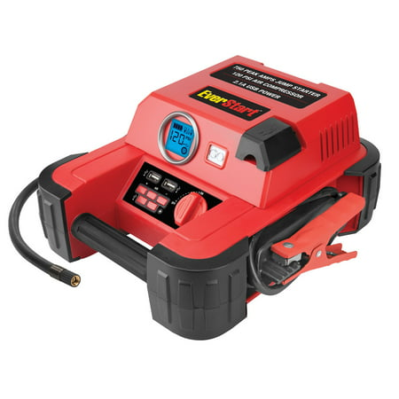 EVERSTART Jump Starter w/ 120 PSI Digital Compressor