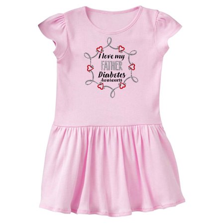I Love My Father Diabetes Awareness Infant Dress