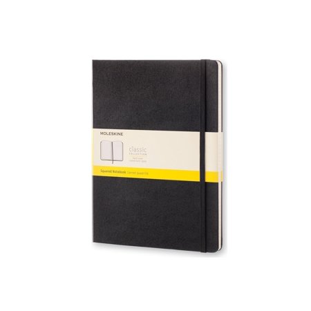 Moleskine Classic Notebook, Extra Large, Squared, Black, Hard Cover (7.5 X 10) (Moleskine Legendary Notebooks)