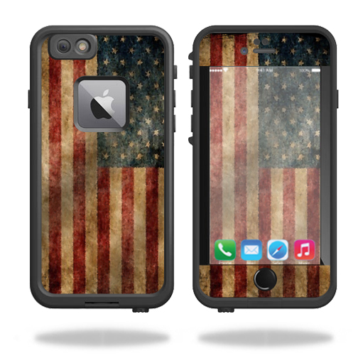 MightySkins Protective Vinyl Skin Decal for Lifeproof Fre iPhone 6 Plus / 6S Plus Case wrap cover sticker skins Vintage Flag