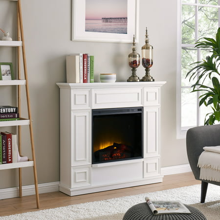 Bold Flame 43.31 inch Electric Fireplace in White ()