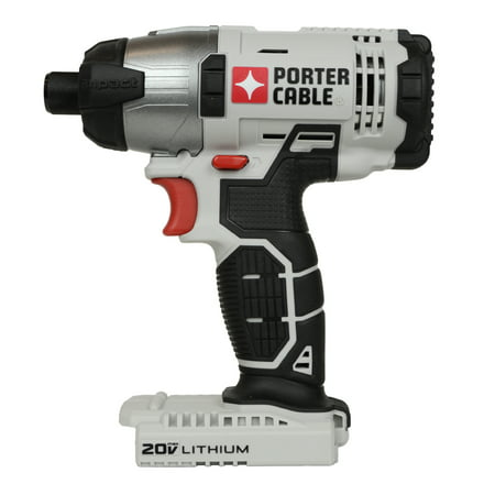 "Porter Cable PCC641 20V Max Lithium-Ion 1/4"" Hex Impact Driver, Bare (Best Cheap Impact Driver)"