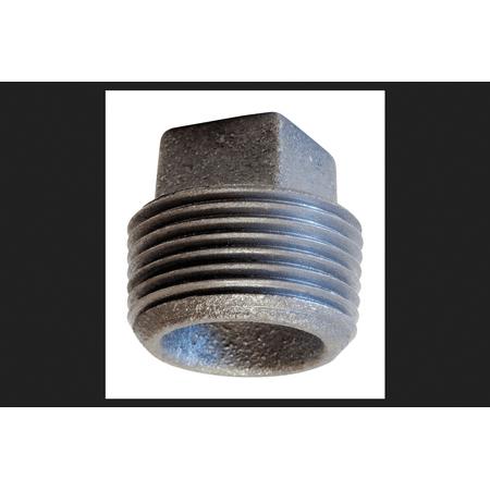 Anvil 4 in. MPT Cast Iron Cored Square Head Plug