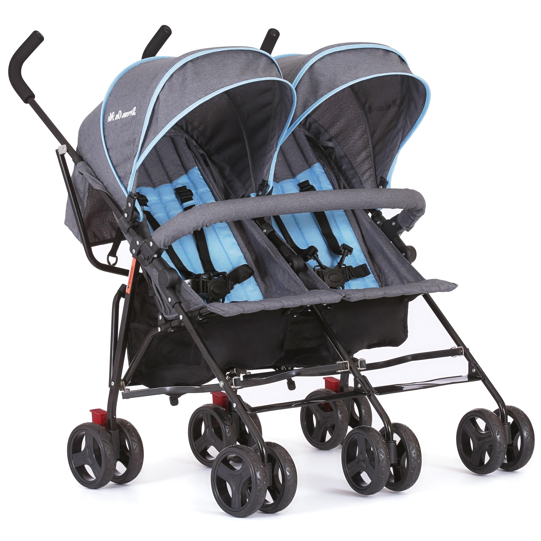 Dream On Me Volgo Twin Umbrella Stroller Blue And Dark