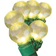Holiday Time LED Iridescent Transparent Warm White G15 Christmas Lights, 70-Count