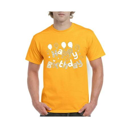 Happy Birthday Tie - Happy Birthday Gift Men's Short Sleeve T-Shirt