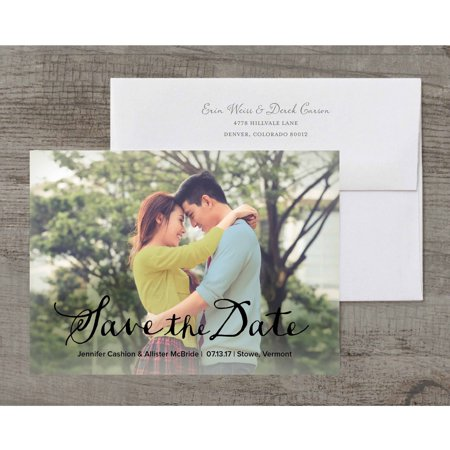 Shop personalized custom save the date cards in an array of exclusive styles and designs from Walmart Stationery. Personalize every detail to delight guests with your creativity. JavaScript seems to .