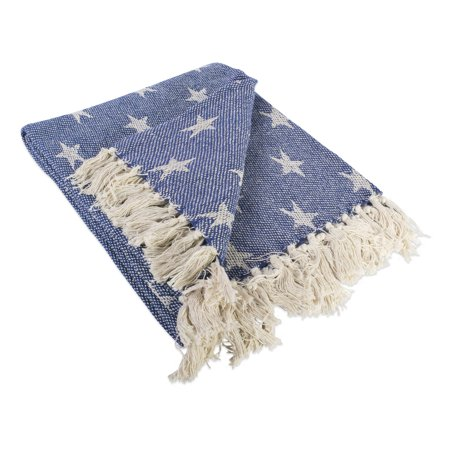 DII Patriotic Stars Decorative Throw, 50