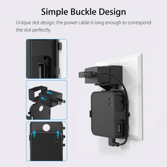 Outlet Wall Mount Hanger Holder Bracket +USB Cable for Blink Sync Module  Black