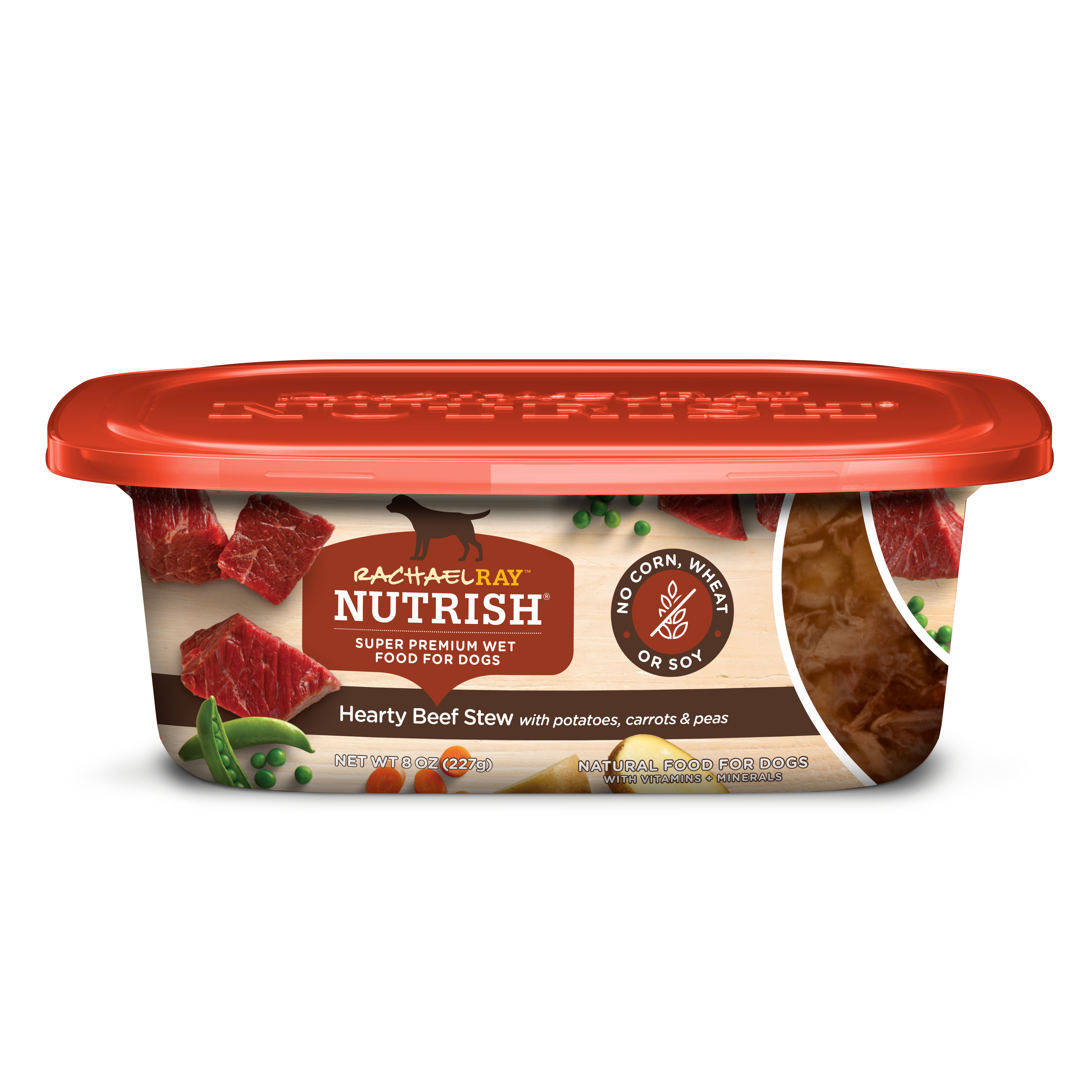 Rachael Ray Nutrish Natural Wet Dog Food, Grain Free, Hearty Beef Stew, 8 oz tub