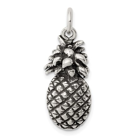 925 Sterling Silver Pineapple Pendant Charm Necklace Food Drink Fine Jewelry For Women Gift Set - Halloween Food And Drinks
