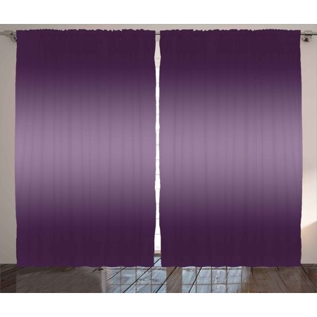 Ombre Curtains 2 Panels Set, Hollywood Theater Inspired Purple Colored Modern Design Room Decorations, Window Drapes for Living Room Bedroom, 108W X 90L Inches, Purple, by Ambesonne - Modern Auto Sales Hollywood