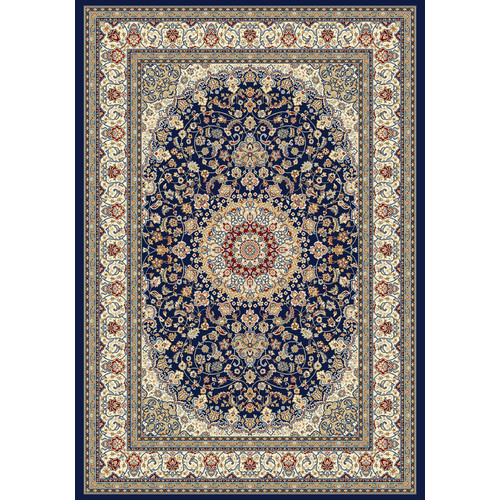 Crescent Drive Rug Company Ancient Garden Blue/Ivory Area Rug