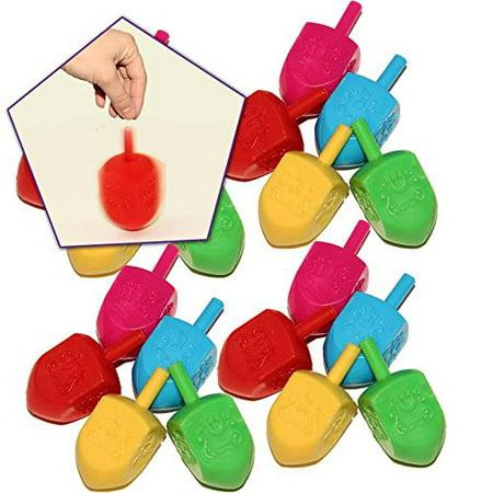 Plastic Dreidel - Super Traditional Hanukah Party Dreidels Spin Game 25 per Pack
