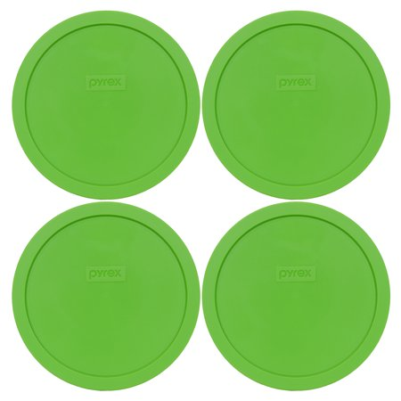Pyrex Replacement Lid 7402-PC Green Round Cover (4-Pack) for Pyrex 7402 7-Cup Bowl (Sold Separately)