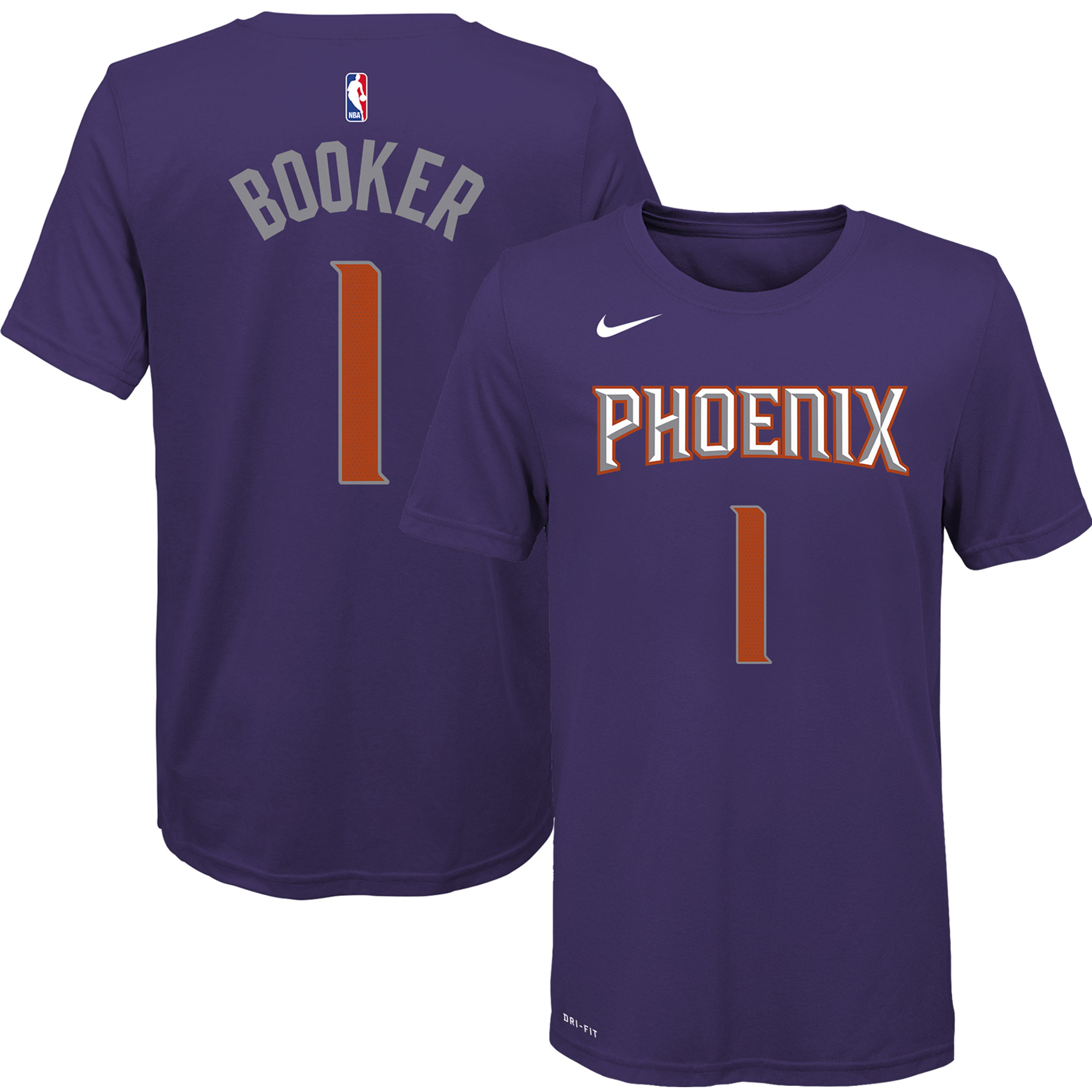 Devin Booker Phoenix Suns Nike Youth Name & Number T-Shirt - Purple