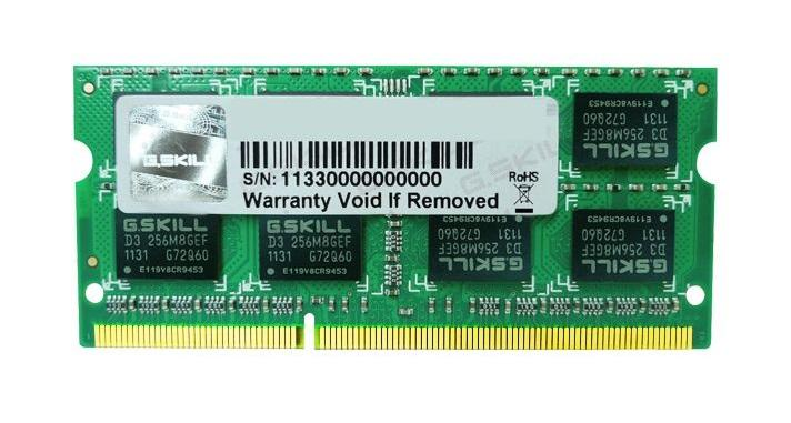 2GB G.Skill DDR3 PC3-10666 CL9 SQ Series single laptop memory module