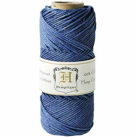 Hemptique Hemp Cord Spool](Light Blue Gems)