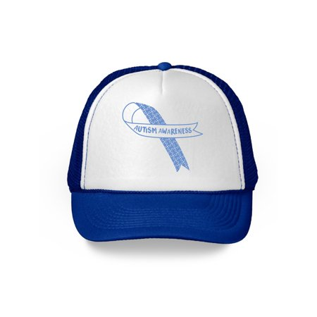 Awkward Styles Autism Awareness Ribbon Hat Blue Ribbon Autism Awareness Cap Support Autism Gifts for Men and Women Autism Awareness Month Autism Hats Raise Awareness for Autism Autism Awareness Gifts