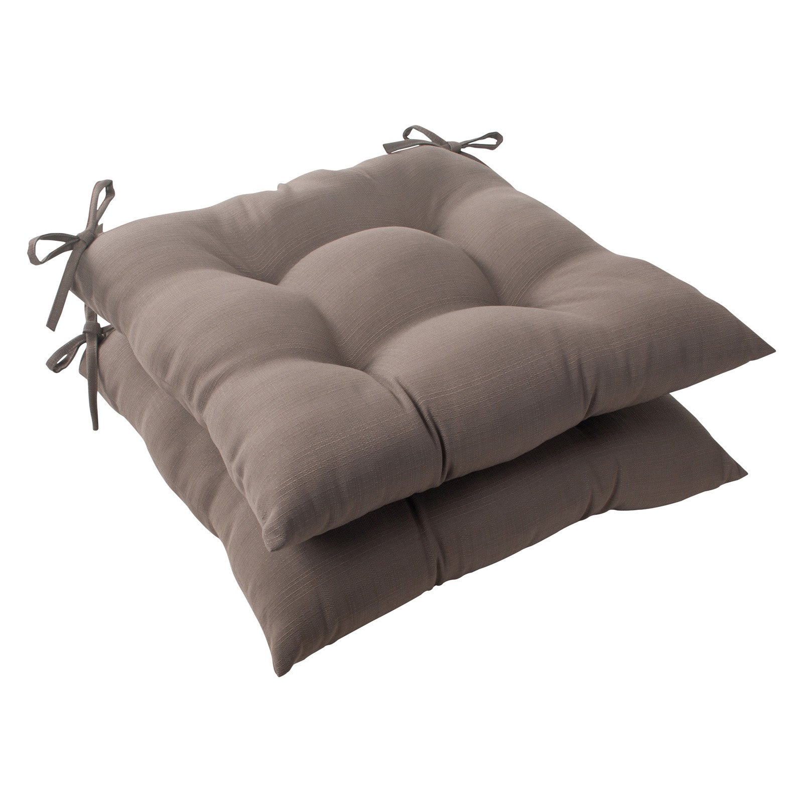 Pillow Perfect Outdoor/ Indoor Forsyth Taupe Wrought Iron Seat Cushion (Set of 2)