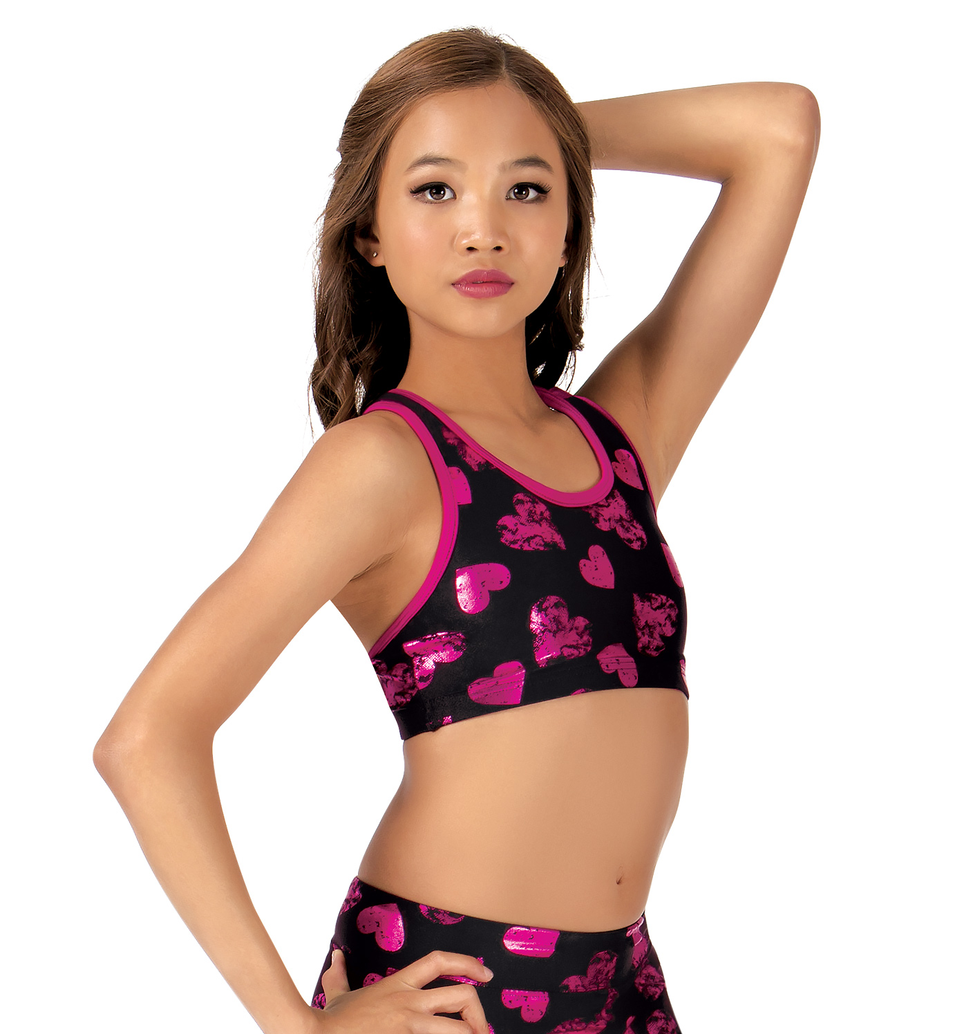 "Girls ""Sweetheart"" Active Tank Bra Top"