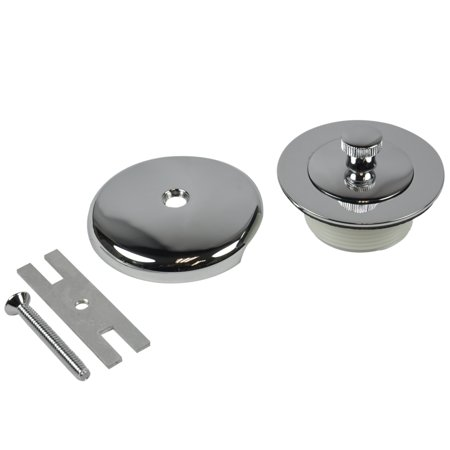 DANCO Universal Lift and Turn Bath Drain Trim Kit with Overflow Plate, Chrome - Lift And Turn Drain