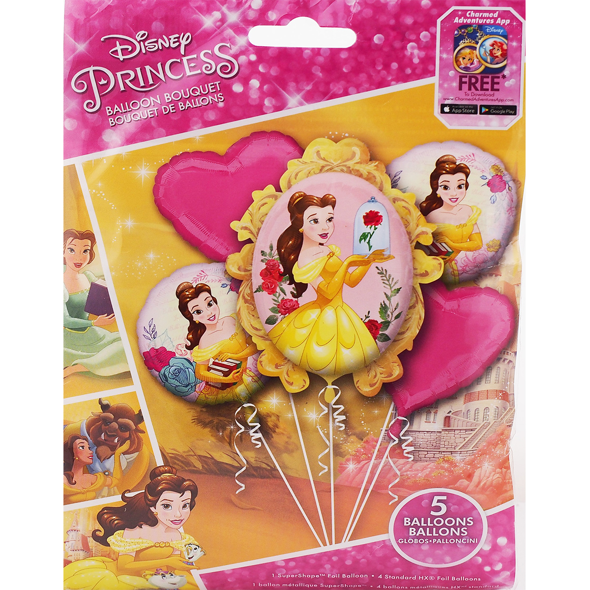 """Disney Beauty And The Beast Belle 36/"""" Shaped  Helium Balloon Princess Party"""