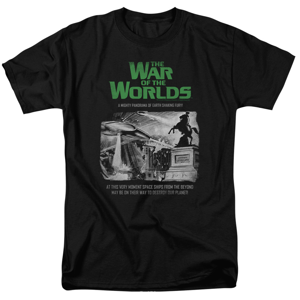 The War Of The Worlds Attack People Poster Mens Short Sleeve Shirt